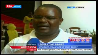 World View 23rd March 2017 - Senators and MCAs Summit end today