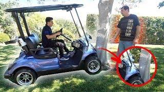 He crashed my dad's golf cart.. (CAUGHT ON CAMERA) | FaZe Rug