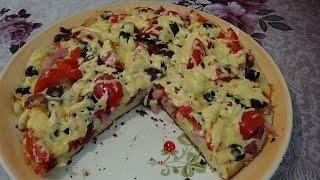 Пицца на сковороде за 10 минут, вкусно и быстро