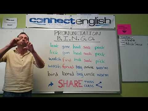 Connect English Pronunciation BINGO, Volume 6 - Mission Valley Campus