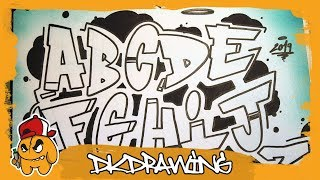 Graffiti Alphabet Simple Style A To Z Letter By Letter