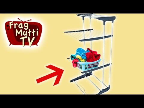 Turmwäscheständer bringt Vorteile | Frag Mutti TV
