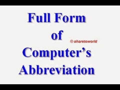 Computer Related Abbreviations 01