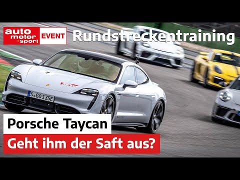 Rundstreckentraining in Hockenheim: Hält der Porsche Taycan durch? | auto motor und sport