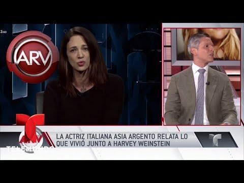 Asia Argento reveló cómo fue acosada sexualmente   Al Rojo Vivo   Telemundo