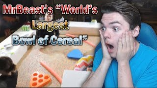 Reacting To MrBeast World's Largest Bowl of Cereal! **LEGIT CRAZY LOL**