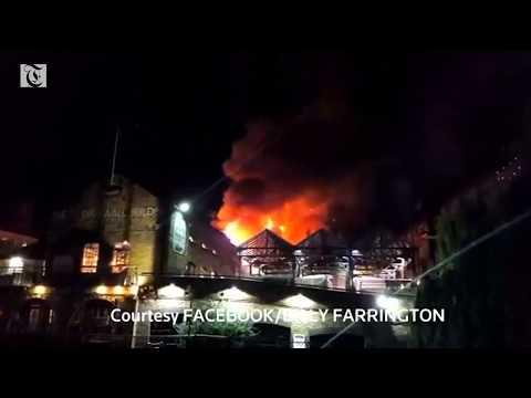 Fire under control in London's Camden Market