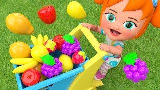 Learning Colors & Fruits Names for Children Garden Fruits 3D Kids Little Baby Girl Fun Educational