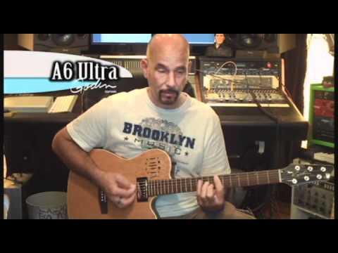 GODIN A6 Ultra Black HG Elektroakustická hybridní kytara