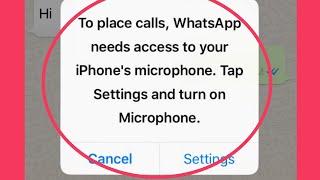 whatsapp call problem with microphone - मुफ्त