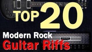 Top 20 Modern Rock Guitar RiffsIntros From 90s 2000s