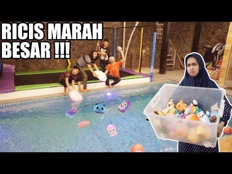 PRANK SQUISHY TERBARU RICIS DIBUANG KE KOLAM. MARAH BESAR!!!