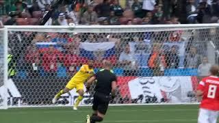 Российские голы в ворота арабов на первом матче ЧМ-2018 по футболу