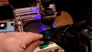 How to get the best focus on a diode 445 nm Endurance laser using mirror camera.