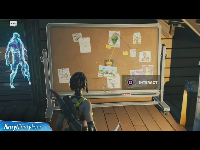 Fortnite Week 1 Challenges (Season 7): How to interact with Bunker Jonesy's conspiracy board