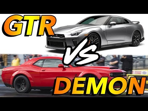 Dodge Demon vs Nissan GTR