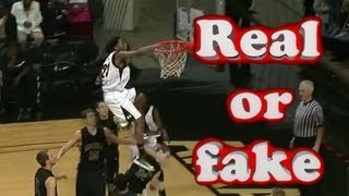 HIGHEST DUNK EVER??  REAL OR FAKE? (Victor Dukes HACK DUNK' NEA Tourney Finals)