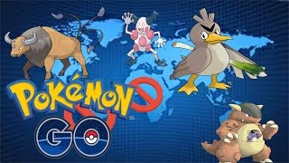 Pokemon GO Continent-Exclusive Pokemon!  Tauros,Mr. Mime,  Farfetch'd , Kangaskhan!
