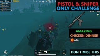 """[Hindi] PUBG MOBILE   INSANE """"PISTOL & SNIPER ONLY"""" CHALLENGE IN ZOMBIE MOD"""