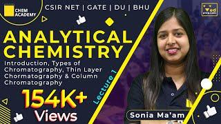 Analytical Chemistry Introduction | TLC Column Chromatography| CSIR NET| GATE| DU| BHU| CHEM ACADEMY