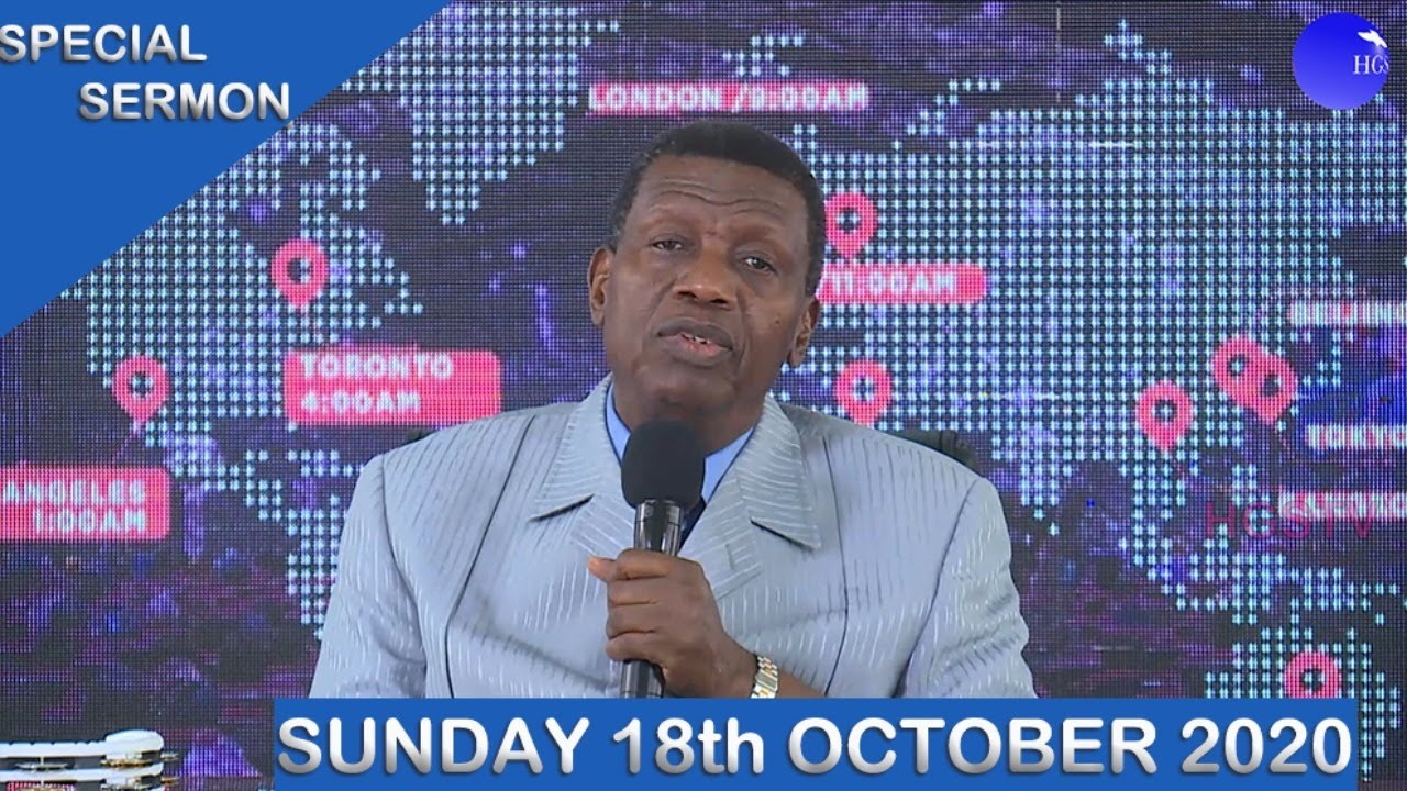 RCCG Sunday Service 18th October 2020 by Pastor E. A. Adeboye - Livestream