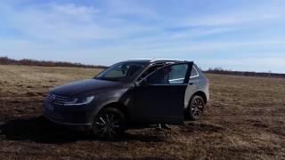 Покатушки по бездорожью VW Touareg VS Hyundai Santa Fe 9 апреля 2017