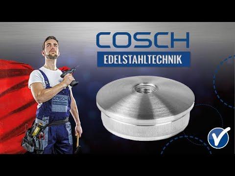 COSCH Edelstahltechnik | Montage Kappe mit Mittelbohrung 1804