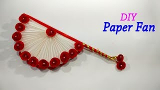 DIY Hand Fan – Traditional Paper Folding Fan – Easy Paper Hand Fan Making Tutorial
