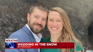 Winter weather wedding: Couple braves the storm to tie the knot at Mt. Tabor Park in SE Portland