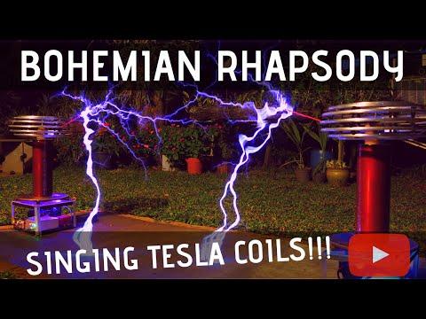 Bohemian Rhapsody by Queen Meets Singing Tesla Coils