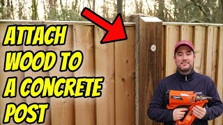 How to attach wood to a concrete post (SUPER STRONG!)