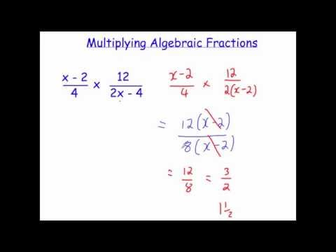 Multiplying Algebraic Fractions Corbettmaths