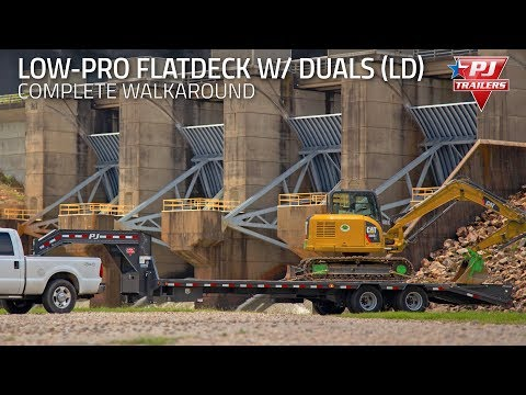 2021 PJ Trailers Low-Pro Flatdeck with Duals (LD) 32 ft. in Elk Grove, California - Video 1
