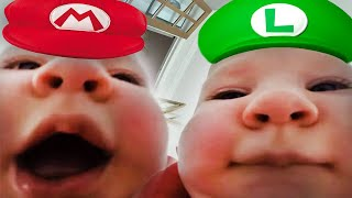 Baby Eats Camera And Sings The Mario Bros Theme Song Meme