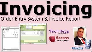 Order Entry System with Invoice Report Template for Microsoft Access. Print Receipts, Bills, More.