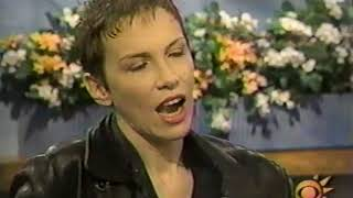 Annie Lennox interview CBS 1996 performing Waiting In Vain