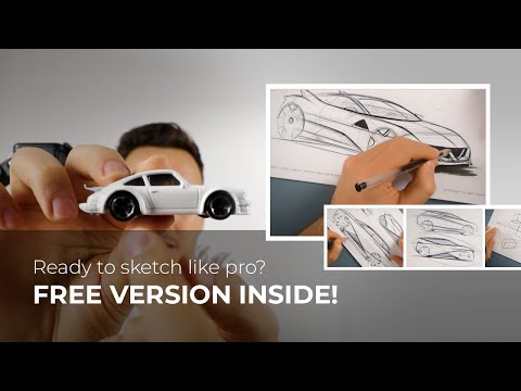 ONLINE CAR DESIGN COURSE - All you need to sketch like PRO! + 10K Celebration 🎊🎉
