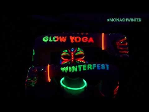 Glow Yoga - WinterFest 2017 - Monash University
