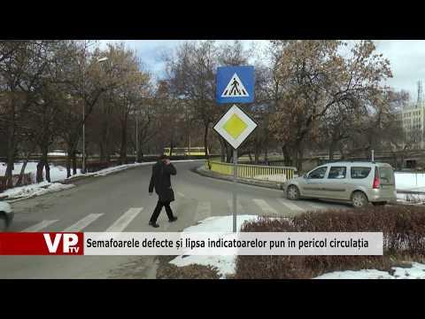 Semafoarele defecte și lipsa indicatoarelor pun în pericol circulația