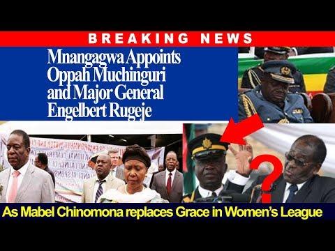 BREAKING NEWS, Mnangagwa Appoints Oppah, Major E Rugeje, Chinomona replaces Grace in Women,s League