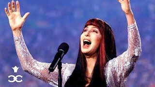 """Cher Sings the US National Anthem at NFL's Super Bowl XXXIII 1999   """"The Star-Spangled Banner"""""""