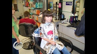 Juliana Carver - First haircut after cancer (October 4, 2009)