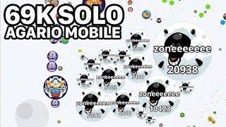 AGARIO MOBILE SOLO 69K (Agar.io Mobile Gameplay)