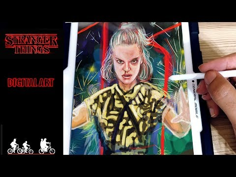 How to Draw Eleven Stranger Things 3 Digital Art Speed Drawing