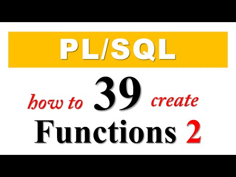 PL/SQL tutorial 39: How To Create PL/SQL Functions in Oracle Database By Manish Sharma