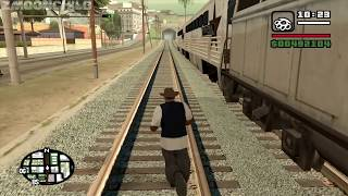 Is it possible to enter the trains during the mission Wrong Side of the Tracks - GTA San Andreas