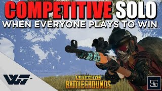 COMPETITIVE SOLO - Everyone tries to win. Playing in Survivor's League - PUBG