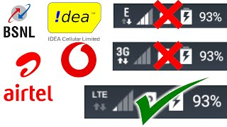 Enable Only 4G Network in Android Smartphone | 4G only mode in Airtel, Vodafone, Idea, and BSNL