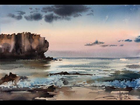 Peniche Watercolor Seascape Tutorial Special