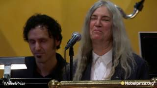 <b>Patti Smith</b> Performs Bob Dylans A Hard Rains AGonna Fall  Nobel Prize Award Ceremony 2016